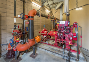 Fire Sprinkler Controls with Diesel Backup