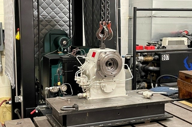 High-Speed Gearbox in Test Stand